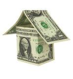 αμερικανικό σπίτι δολαρίων κατασκευής λογαριασμών Στοκ εικόνα με δικαίωμα ελεύθερης χρήσης