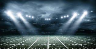 Αμερικανικό στάδιο ποδοσφαίρου, τρισδιάστατη απόδοση Στοκ Εικόνες