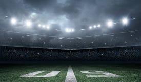 Αμερικανικό στάδιο ποδοσφαίρου Στοκ Φωτογραφία