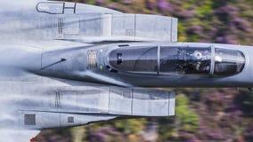 Αμερικανικό στρατιωτικό αεροπλάνο πολεμικό τζετ USAF F15 στοκ εικόνα