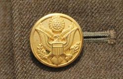 Αμερικανικό στρατιωτικό κουμπί Στοκ Φωτογραφία
