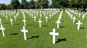 Αμερικανικό στρατιωτικό πολεμικό νεκροταφείο στοκ εικόνα με δικαίωμα ελεύθερης χρήσης