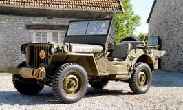 Αμερικανικό στρατιωτικό όχημα τζιπ wwii Στοκ εικόνες με δικαίωμα ελεύθερης χρήσης