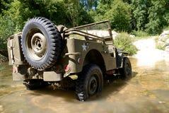 Αμερικανικό στρατιωτικό όχημα τζιπ wwii Στοκ Εικόνες