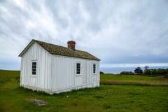 Αμερικανικό στρατόπεδο, κόλπος φρουρών, νησί εθνικό ιστορικό Π του San Juan Στοκ Φωτογραφία