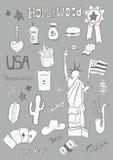 Αμερικανικό σύνολο Στοκ φωτογραφίες με δικαίωμα ελεύθερης χρήσης