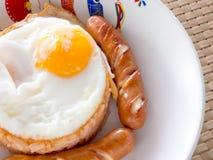 Αμερικανικό σύνολο προγευμάτων ύφους, τηγανισμένο ρύζι Στοκ Εικόνες