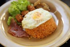 Αμερικανικό σύνολο προγευμάτων ύφους, τηγανισμένο ρύζι Στοκ εικόνες με δικαίωμα ελεύθερης χρήσης