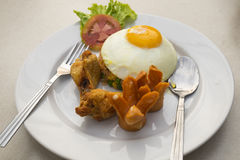αμερικανικό τηγανισμένο ρύζι Στοκ Εικόνα