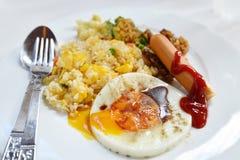 αμερικανικό τηγανισμένο ρύζι Στοκ Φωτογραφίες