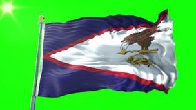 Αμερικανικό της Σαμόα τρισδιάστατο δίνοντας βίντεο περιτύλιξης σημαιών άνευ ραφής Όμορφος υφαντικός κυματισμός βρόχων υφάσματος υ διανυσματική απεικόνιση
