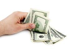αμερικανικό χέρι δολαρίων Στοκ Εικόνες