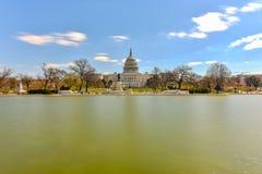 Αμερικανικό Capitol κτήριο - Ουάσιγκτον, συνεχές ρεύμα στοκ φωτογραφία με δικαίωμα ελεύθερης χρήσης