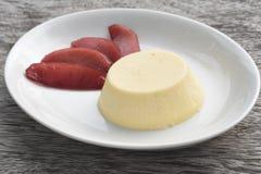 Αμερικανικό Cheesecake με το λαθραίο μήλο Στοκ Εικόνα