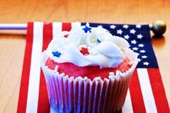 αμερικανικό cupcake Στοκ φωτογραφία με δικαίωμα ελεύθερης χρήσης