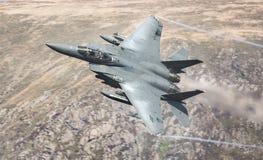 Αμερικανικό F15 αεριωθούμενο αεροπλάνο USAF Στοκ φωτογραφία με δικαίωμα ελεύθερης χρήσης