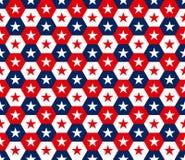 Αμερικανικό hexagon άνευ ραφής σχέδιο αστεριών Στοκ Εικόνες