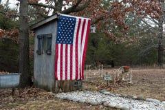 αμερικανικό outhouse Στοκ φωτογραφία με δικαίωμα ελεύθερης χρήσης