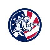 Αμερικανικό Sandblaster λειαντικό εικονίδιο σημαιών ανατίναξης ΗΠΑ στοκ εικόνες