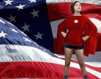 Αμερικανικό superheroine στοκ φωτογραφίες με δικαίωμα ελεύθερης χρήσης