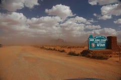 αμμοθύελλα στοκ φωτογραφίες