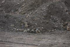 Αμμοχάλικο και χώμα για την κατασκευή στοκ φωτογραφίες με δικαίωμα ελεύθερης χρήσης