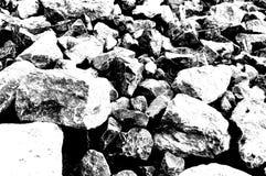 Αμμοχάλικο οδοποιίας σε γραπτό στοκ φωτογραφίες