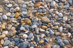 Αμμοχάλικο στην ακροθαλασσιά στοκ εικόνες