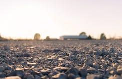 Αμμοχάλικο στο έδαφος στοκ εικόνες με δικαίωμα ελεύθερης χρήσης