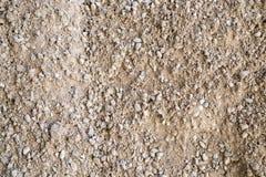 Αμμοχάλικο, χαλίκια και κινηματογράφηση σε πρώτο πλάνο άμμου στοκ εικόνες