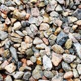 Αμμοχάλικο χαλίκια Μικρές πέτρες στοκ φωτογραφία
