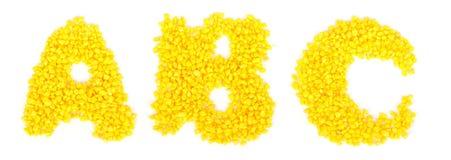 Αμμοχάλικο αλφάβητου στοκ εικόνα