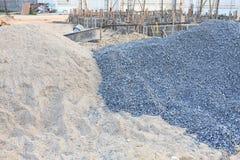 Αμμοχάλικο και άμμος σωρών στοκ εικόνα με δικαίωμα ελεύθερης χρήσης