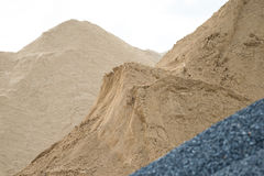 Αμμοχάλικο και άμμος στοκ εικόνα