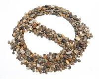 Αμμοχάλικο κανένα σύμβολο στοκ εικόνες με δικαίωμα ελεύθερης χρήσης