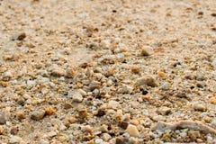 Αμμοχάλικο, χαλίκια και κινηματογράφηση σε πρώτο πλάνο άμμου στοκ εικόνα με δικαίωμα ελεύθερης χρήσης