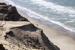 Αμμόλοφοι άμμου Rubjerg Knude Στοκ Φωτογραφίες
