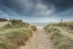 Αμμόλοφοι παραλιών της Γιούτα στον πόλεμο δύο της Νορμανδίας Wold ιστορική περιοχή στοκ εικόνες