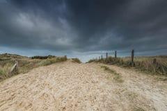 Αμμόλοφοι παραλιών της Γιούτα στον πόλεμο δύο της Νορμανδίας Wold ιστορική περιοχή στοκ φωτογραφία με δικαίωμα ελεύθερης χρήσης