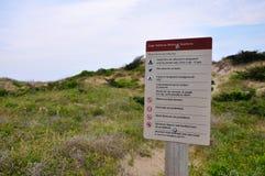 Αμμόλοφος άμμου στο ακρωτήριο Hatteras, βόρεια Καρολίνα Στοκ φωτογραφία με δικαίωμα ελεύθερης χρήσης