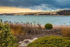 Αμμόλοφος Parnidis το φθινόπωρο, Neringa, Λιθουανία Στοκ Εικόνα