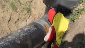 Αμμόστρωση του μετάλλου αεροπορικώς συμπιεσμένος απόθεμα βίντεο