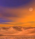 Αμμόλοφοι άμμου ερήμων Στοκ Εικόνα