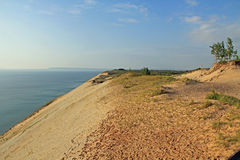 Αμμόλοφοι άμμου κατά μήκος της λίμνης Μίτσιγκαν, ΗΠΑ Στοκ Φωτογραφίες