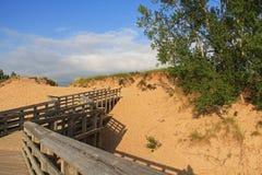 Αμμόλοφοι άμμου κατά μήκος της λίμνης Μίτσιγκαν, ΗΠΑ Στοκ εικόνα με δικαίωμα ελεύθερης χρήσης