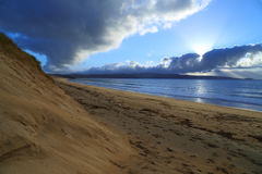 Αμμόλοφοι άμμου στο ηλιοβασίλεμα στοκ εικόνες