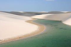 Αμμόλοφοι άμμου Maranhenses Lencois, Βραζιλία Στοκ φωτογραφίες με δικαίωμα ελεύθερης χρήσης