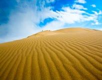 Αμμόλοφοι πανοράματος τοπίων ερήμων Στοκ φωτογραφία με δικαίωμα ελεύθερης χρήσης