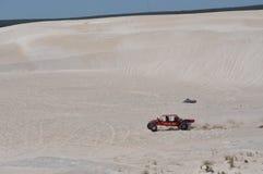 Αμμόλοφοι Lancelin: Αθλητισμός αμμόλοφων στη δυτική Αυστραλία Στοκ Φωτογραφίες