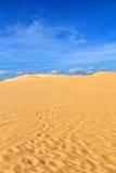 Αμμόλοφος άμμου με τα ίχνη Στοκ εικόνες με δικαίωμα ελεύθερης χρήσης